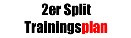 2er-Split Trainingsplan